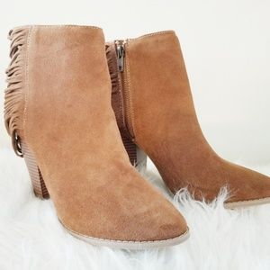 Leather upper ankle boots women